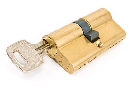 Schloss- und Schließzylinder mit Schlüssel